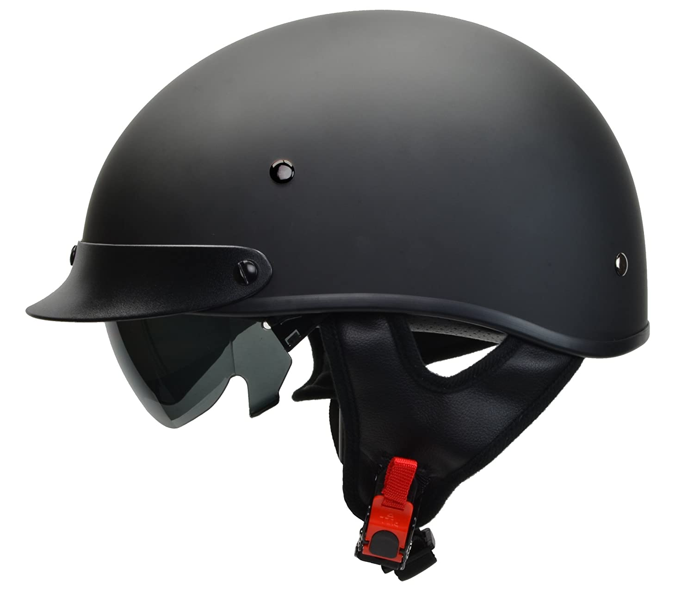 Vega Helmets Warrior Motorcycle Half Helmet with Sunshield for Men & Women