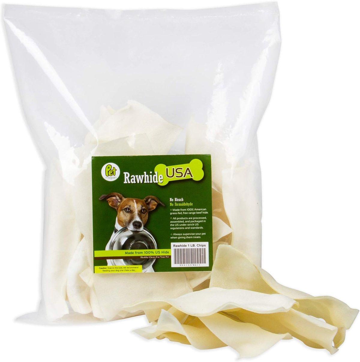 Patatas de Cuero Crudo Natural – Caprichos Excelentes y de Larga duración para Perros con cueros de Ternera Cortados, procesados sin aditivos ni químicos