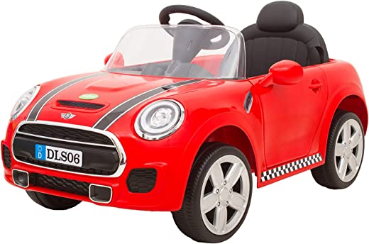 Baybee Cabrio Baby Toy Car Rechargeable Battery Operated Ride on car for Kids/Baby with R/C Jeep Children Car Electric Motor Car Kids Cars,Baby Racing Car for Boys & Girls (Red/Black)