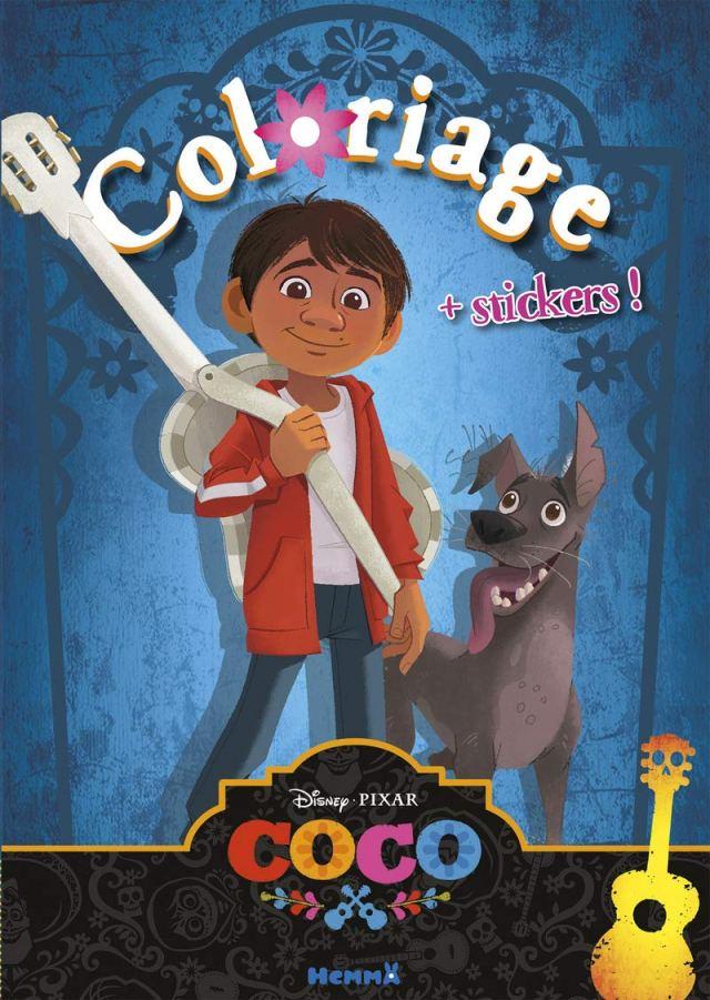 Disney Coco Coloriage + stickers ! (Coloriage avec stickers