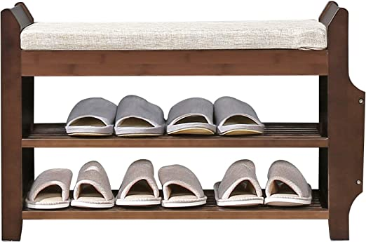 Shoes Bench Fome Entryway Shoe Storage Organizer With Cushion Padded Seat Shoe Wearing Bench Seat Storage