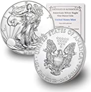 2020 1 oz Silver American Eagle BU In Coin Flip With CoinFolio COA $1 Brilliant Uncirculated