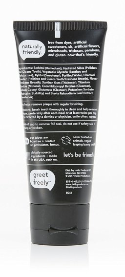 Hello Oral Care Activated Charcoal Teeth Whitening Fluoride Free Toothpaste review