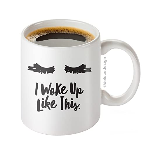 I Woke Up Like This Mug - Lash Extensions Mug - Lashes I Woke Up Like This Coffee Mug, Mother's Day Gift, - DeLuce Design