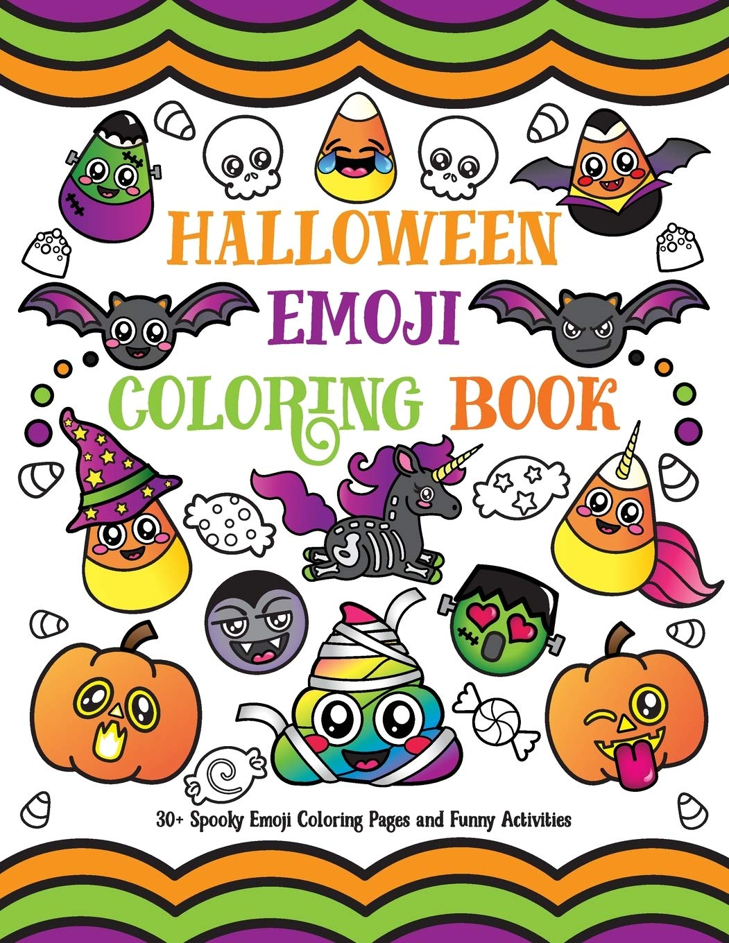 Halloween Emoji Coloring Book 30 Spooky Emoji Coloring Pages And Funny Activities Spectrum Nyx 9781643400112 Amazon Com Books