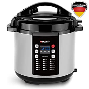Mueller 10-in-1 Pro Series 18 Program 6Q Pressure Cooker with German ThermaV Tech