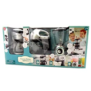 Kids Pretend Play Gourmet Kitchen Appliance 3 Piece Set