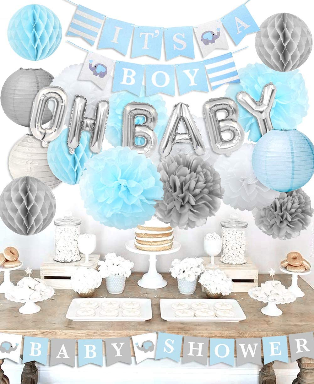 Baby Shower Decorations It S A Boy Baby Shower Decorations Kit With Balloons It S A Boy Baby Shower Banner Amazon Ca Home Kitchen