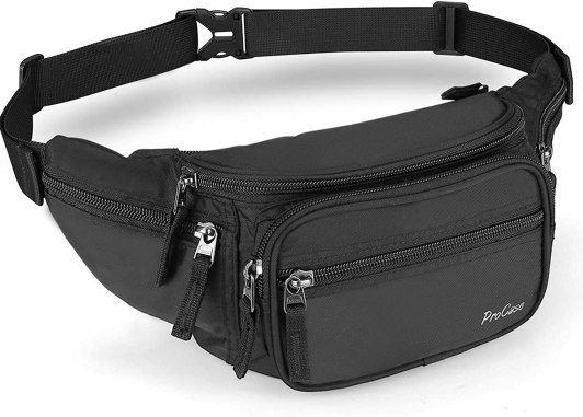 Amazon.com: ProCase Fanny Pack Waist Packs for Men Women, Waist Bag Hip Pack  for Travel Hiking Running Outdoor Sports -Black: Computers & Accessories