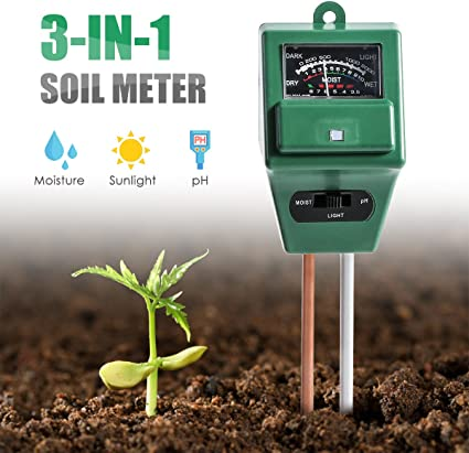 Amazon Com Wallfire Soil Ph Meter Digital 3 In 1 Soil Test Kit For Moisture Sunlight Ph Testing With Probe Sensor For Home And Garden Plants Lawn Farm Herbs Gardening Tools Indoor Outdoor Use Sports