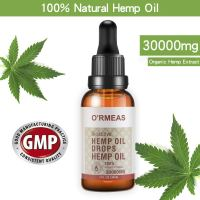 Hemp Oil Extract for Pain & Stress Relief – 30000mg of Organic Hemp Extract - 100% Natural Hemp Drops Hemp Seed Oil- Helps with Sleep, Skin & Hair,1 fl oz