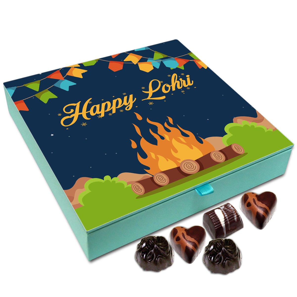 Chocholik Lohri Gift Box – Happy Lohri to All Chocolate Box – 9pc
