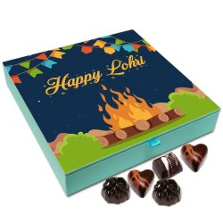 Chocholik Lohri Gift Box – Happy Lohri to All Chocolate Box – 9pc