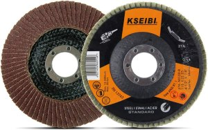 KSEIBI Aluminum Oxide 4 1/2 Inch Auto Body Flap Disc Sanding Grinding Whee