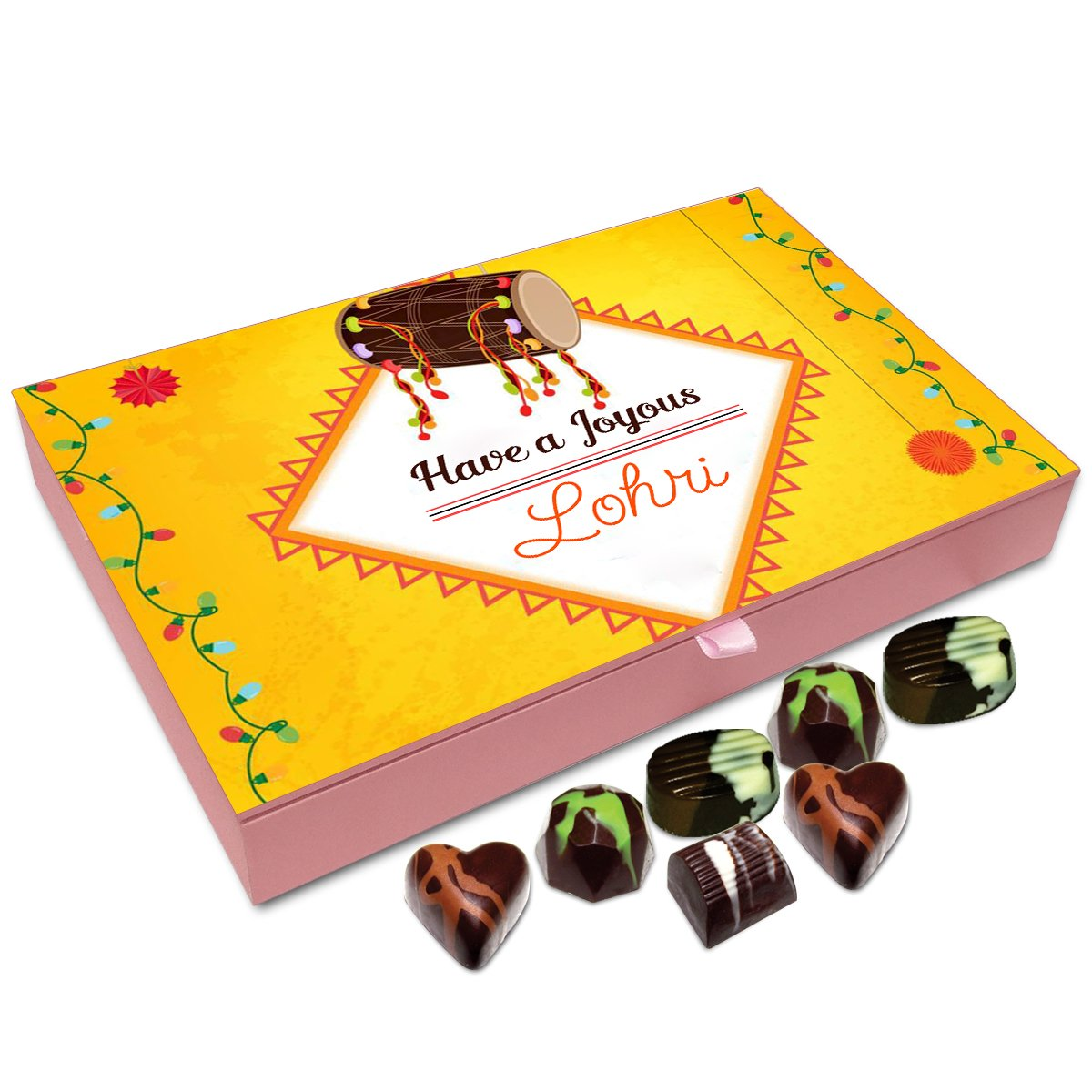 Chocholik Lohri Gift Box – Have A Joyous Lohri Chocolate Box – 12Pc