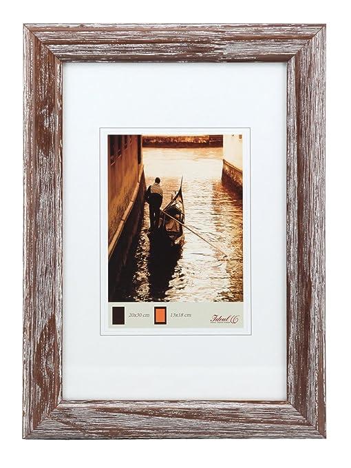 Hr 50 Holz Bilderrahmen In 13x18 Cm Bis 60x80 Blau Braun Grau Natur Schwarz Weiß Farbe Braun Format 50x70