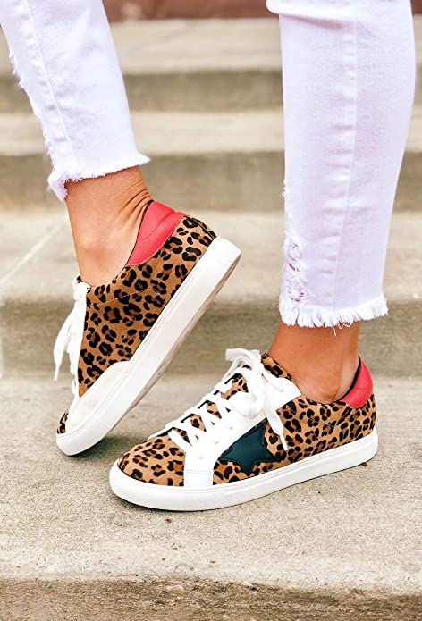 Low Top Round Toe Star Casual Sneakers - Useful Things to Buy on Amazon