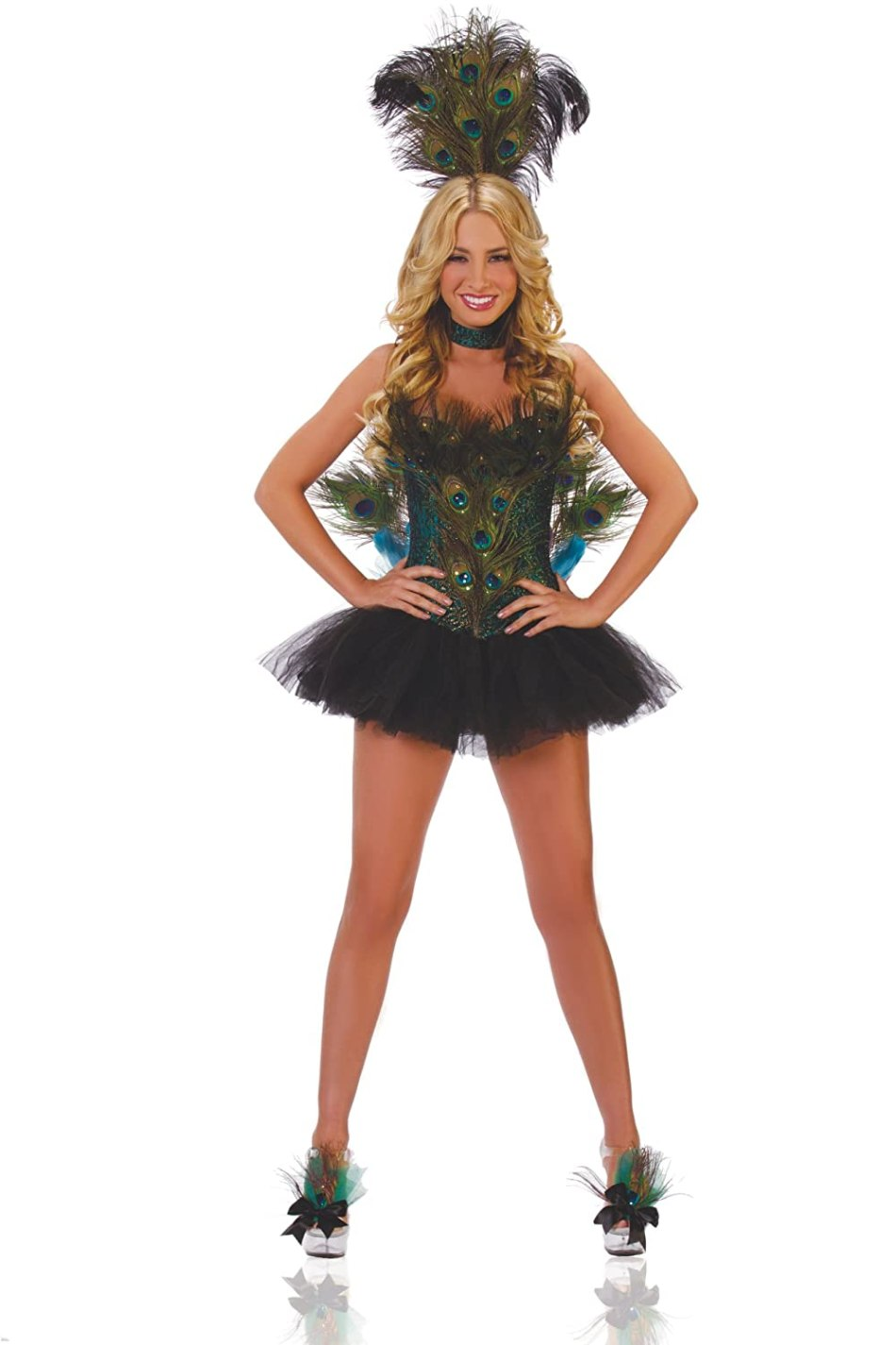 peacock costumes for women - Starline Women's Sexy 5 Piece Deluxe Peacock Costume