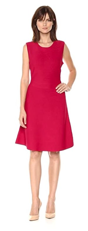 BCBGMax Azria Women's Lacee Knit Fit & Flare Dress