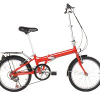 "Vilano 20"" Lightweight Aluminum Folding Bike Foldable Bicycle, Rack and Fenders"