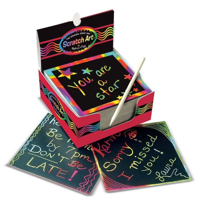 Multi-Color Mini Scratch Art Notes