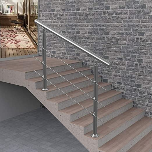Amazon Com 3 Step Or 4 Step Handrail For Indoor And Outdoor Steps | Stainless Steel Outdoor Handrails | Safety | Stainless Pipe | Hand Rail | Tube | Square