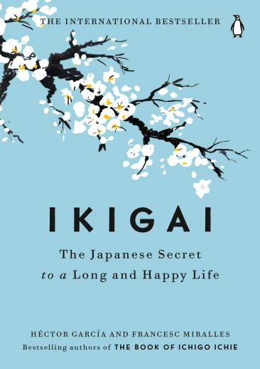 Book cover of 'Ikagai' that talks about technological fasting