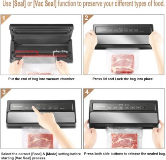 Easily identify different foods with the clear vacuum seal bags