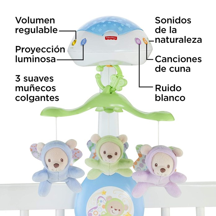 Móvil ositos voladores de Fisher Price