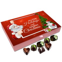Chocholik Christmas Gift Box – Happy Holidays and Merry Christmas Chocolate Box – 12pc