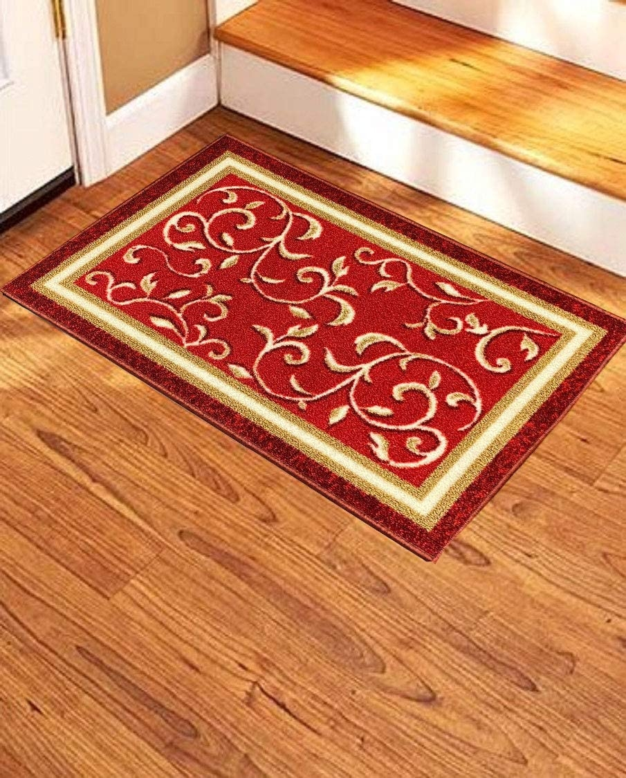 Amazon Com Stair Treads Non Slip Landing Mat Skid Resistant | Carpet Stairs Wooden Floor Landing | Oak | Red Striped | Center House | Wall To Wall Carpet | Bedroom