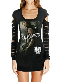Juniors Long Sleeve: The Walking Dead - Claimed Laser Cut Cover Up T-Shirt Size S