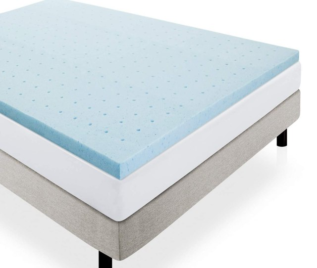 Amazon Com Lucid 2 Gel Infused Ventilated Memory Foam Mattress Topper Twin Home Kitchen