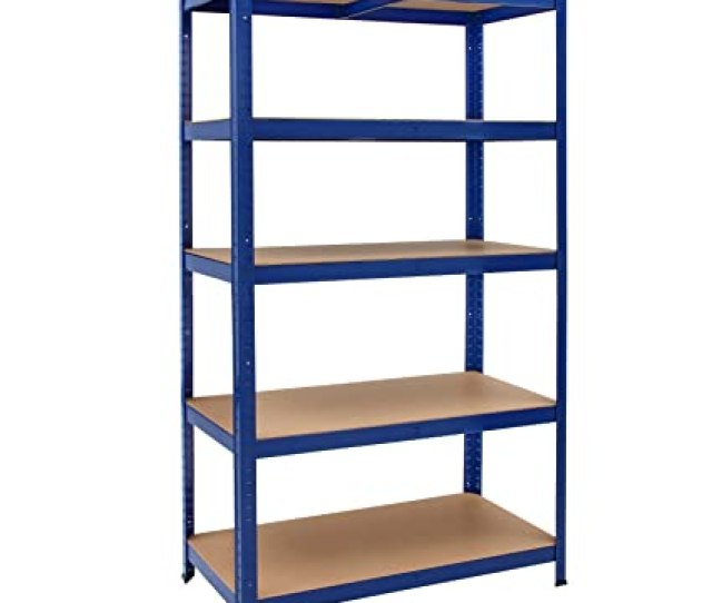 Deuba Heavy Duty Industrial Storage Shelving Unit Shelves Metal Racking For Garage Shed Shelf Rack Units Mdf Boltless Blue  X 40 Cm Amazon Co Uk
