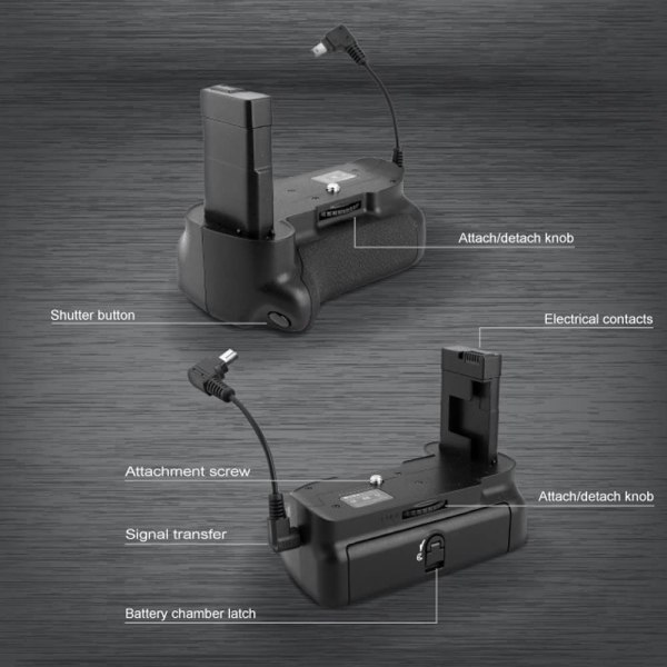 Amazon.com : Meike Multi-Power Vertical Battery Grip Pack for Nikon DSLR  D5300 D3300 D3400 DSLR Cameras Compatible with EN-EL14 Batteries : Camera &  Photo