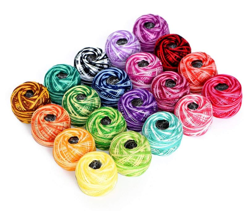 Cotton Yarn Variegated Crochet thread