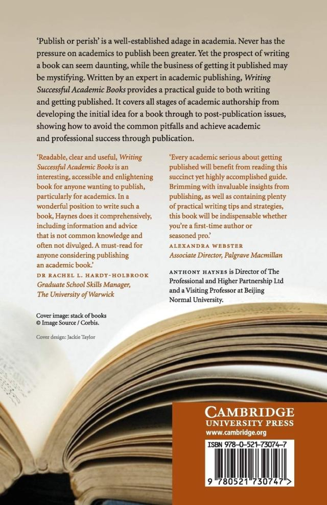 Writing Successful Academic Books : Haynes, Anthony: Amazon.de: Bücher