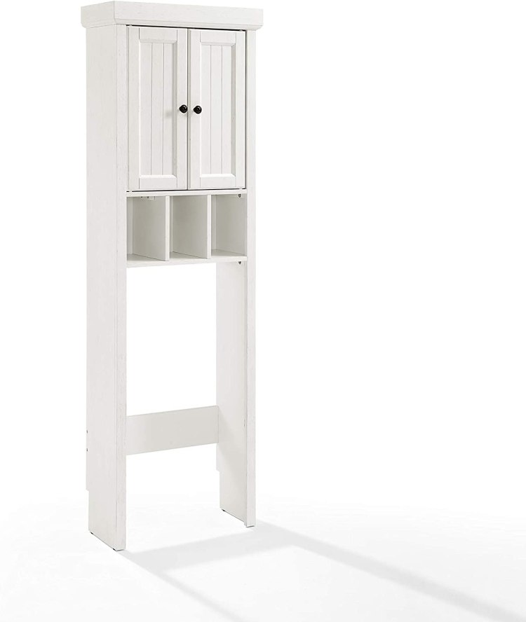 Crosley Seaside Space Saver Cabinet Distressed White