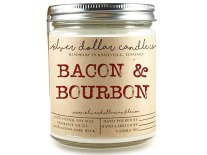 8oz Bacon & Bourbon Man Candle Hand poured 100% Soy Wax Scented Candle by Silver Dollar Candle Co. - Maple, Gifts for Men