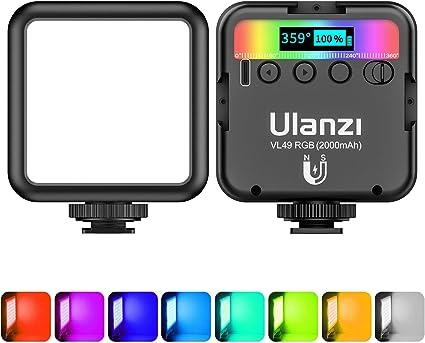 Leds Portáteis Unlanzi (modelo VL49 RGB 2500k-9000k)