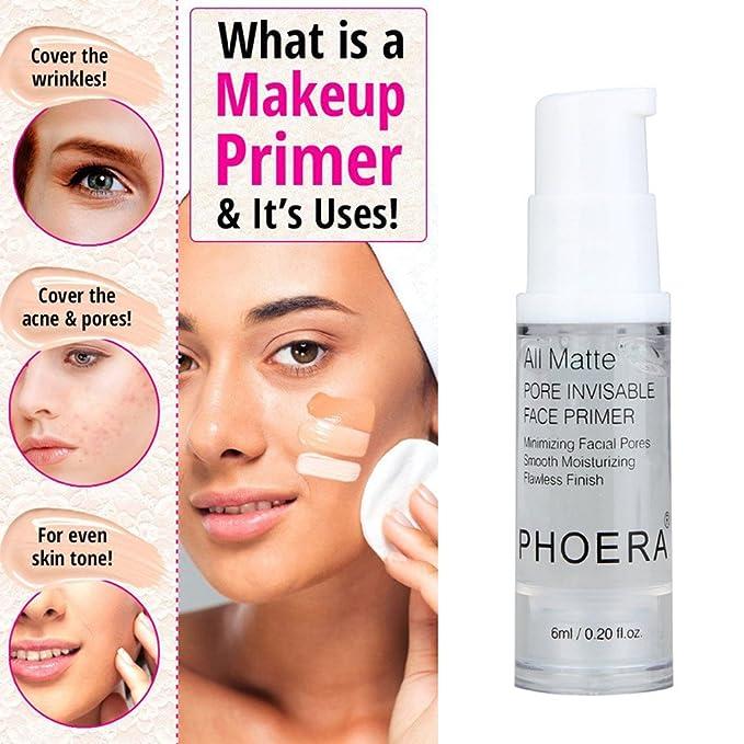 PHOERA Face Makeup Primer Isolated Moisturizing Makeup Base 0.2Oz by Fenleo