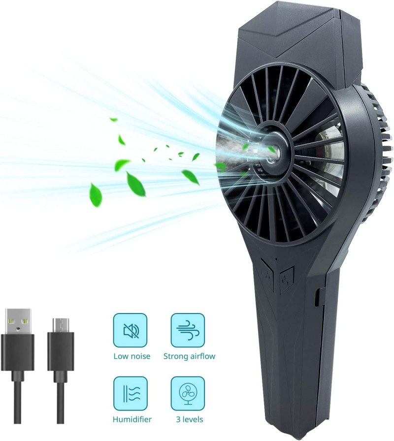 mini ventilateur brumisateur homme