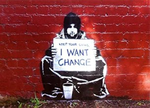 Image result for keep your coins i want change poster