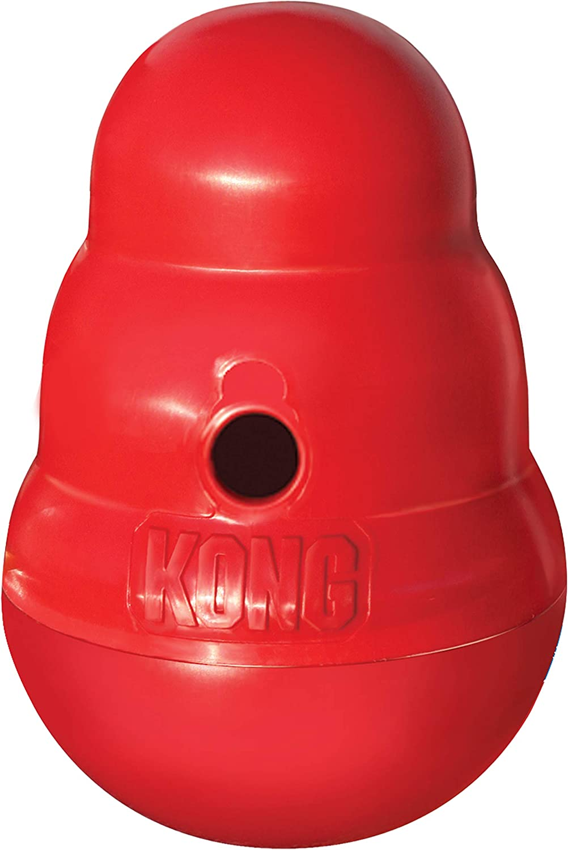 Kong - Wobbler - Dispensador de golosinas, Apto para lavavajillas - Raza Grande