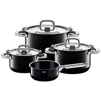Silit Topf-Set 4-teilig Nature Black
