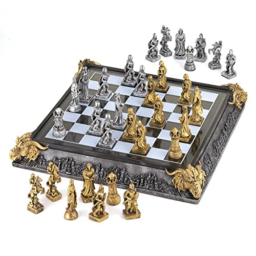Koehler 35301 17 Inch Medieval Knights Chess Game Set