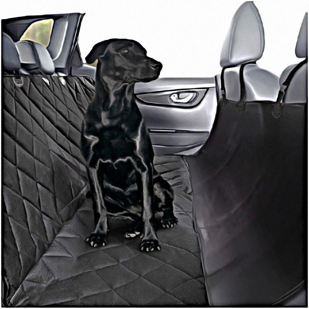 asiento cobertor para perros, hamaca para camiones, para mascotas, 2 cinturónes de seguridad, 2 arneses laterales, para animales de compañía, en silicona, negro, antiderrapante, se puede lavar a máquinahttps://amzn.to/2DZgTql