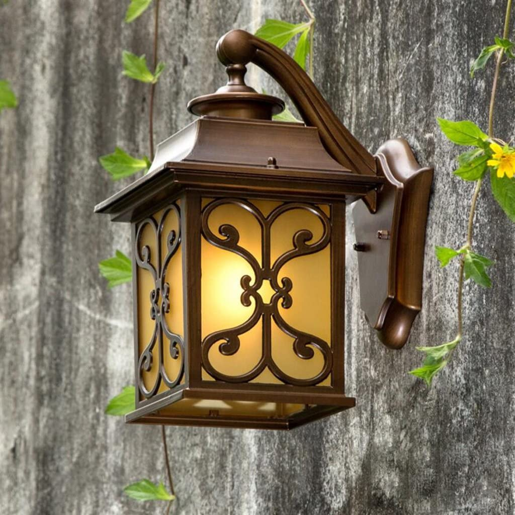 Wall Light Vintage Villa Outdoor Waterproof Garden Yard Front Door Lights Home Exterior Wall Outdoor Wall Lamp E27 Amazon Co Uk Lighting