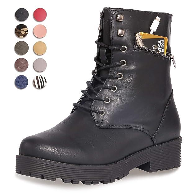 Botas militares negras casuales para mujerhttps://amzn.to/2PuwwIv