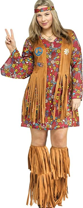 Fun World Peace & Love Plus Size Costume